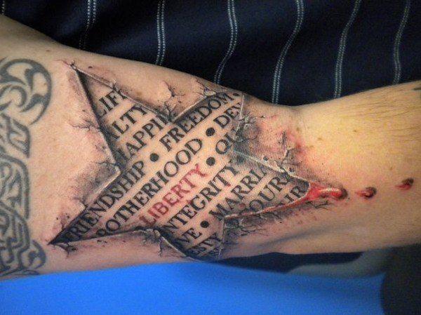 las-fotos-de-tatuajes-en-3d-estrella