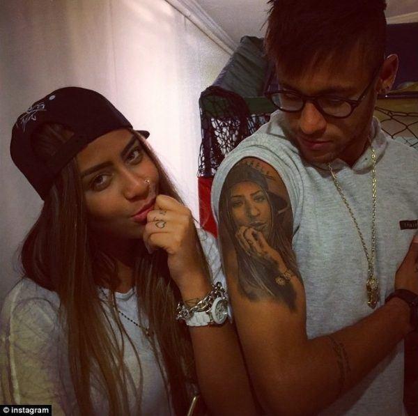 tatuajes-neymar-tatuaje-brazo-cara-de-su-hermana-rafaella
