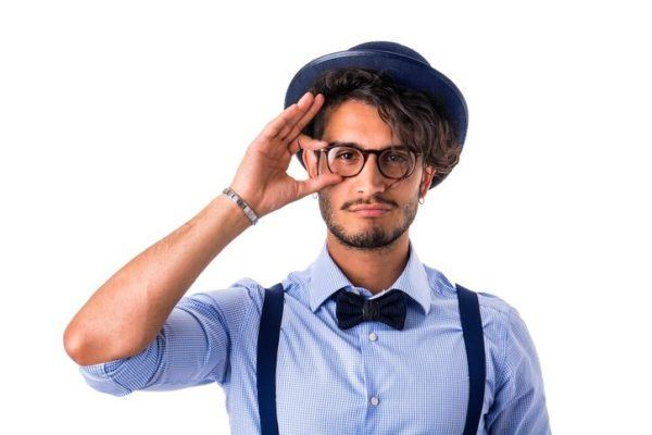 Pelo largo hombres hipster