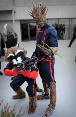Disfraces Halloween Guardianes de la Galaxia Groot y Rocket
