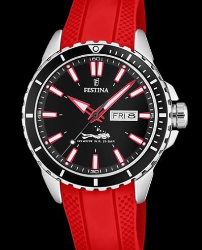 Catálogo relojes Festina colección 2020 2021 The Originals rojo
