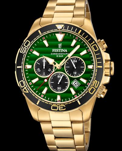 Catálogo relojes Festina colección 2020 2021 Prestige dorado verde