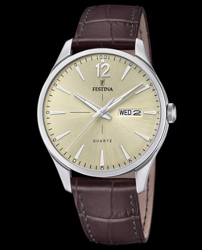 Catálogo relojes Festina colección 2020 2021 Retro marrón piel
