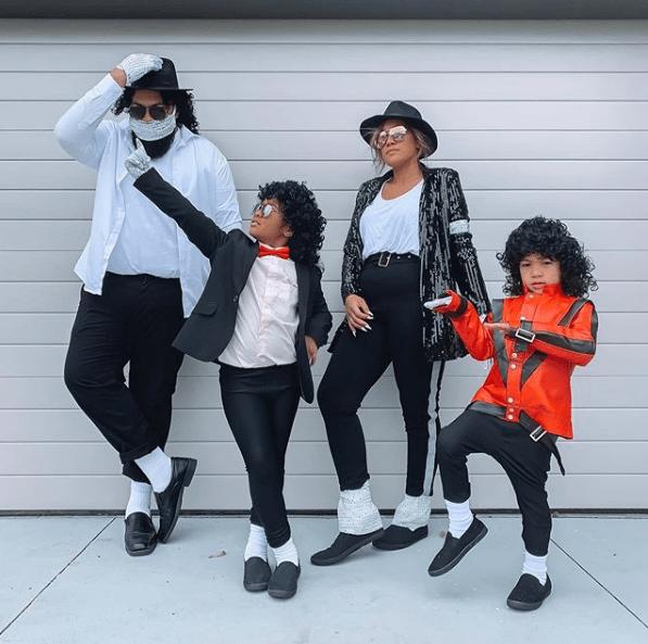 Disfraz Michael Jackson Halloween familia