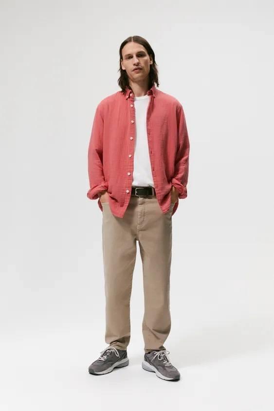 Moda otoño invierno 2021 2022 camisa rojo zara