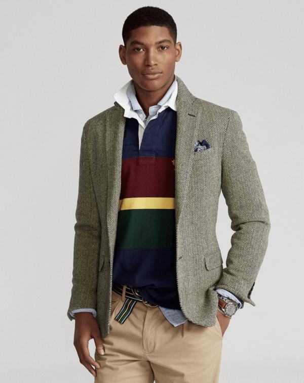 Las tendencias en americanas para este Otoño Invierno 2022 americana Polo Ralph Lauren lana regular