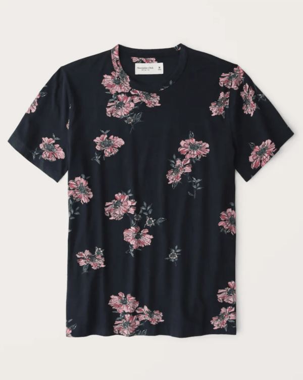 Las Rebajas en Abercrombie para Verano 2021 camisa estampada cuello redondo