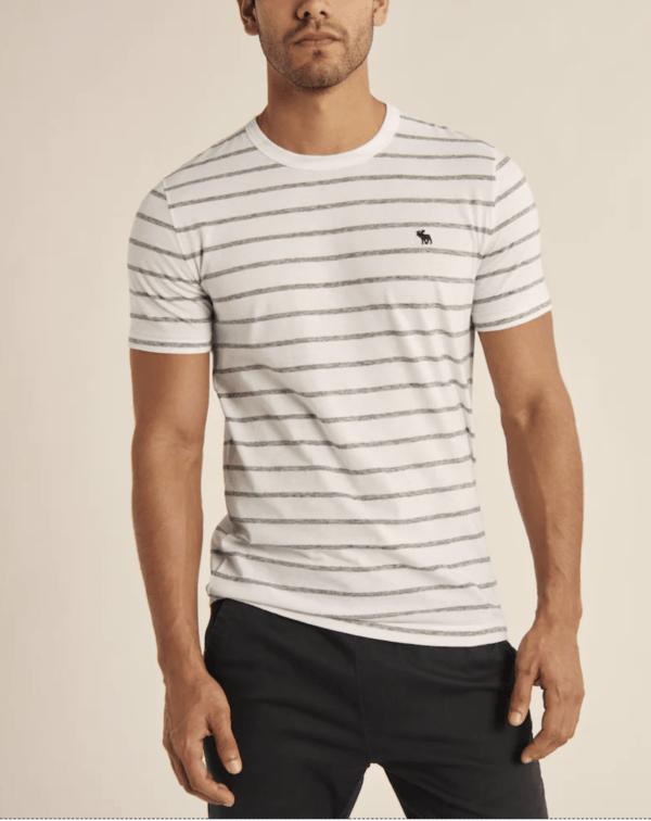 Las Rebajas en Abercrombie para Verano 2021 camiseta icono rayas