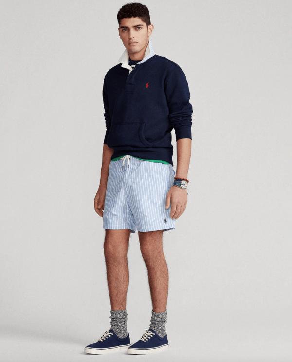 Las Rebajas de El Corte Inglés Verano 2021 pantalón corto rayas azules Ralph Lauren