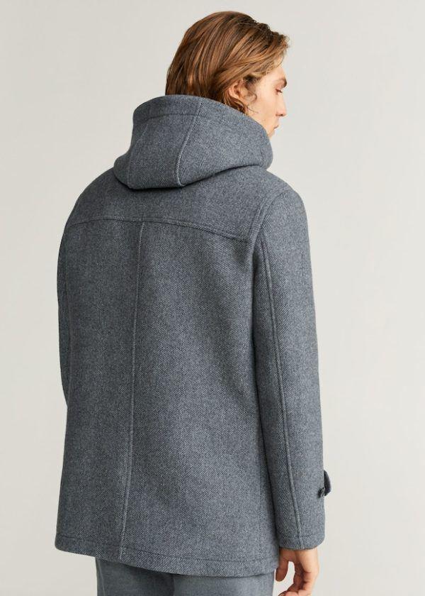 Abrigo chaquetón capucha Catálogo Mango Man HE Temporada Otoño Invierno 2020 2021