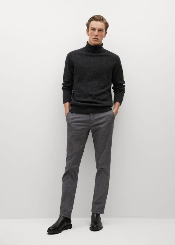 Pantalón algodón slim fit Catálogo Mango Man HE Temporada Otoño Invierno 2020 2021