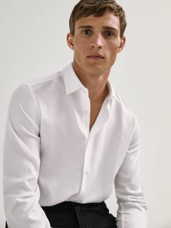 Camisa espiga algodón Catálogo Massimo Dutti temporada otoño invierno 2020 2021
