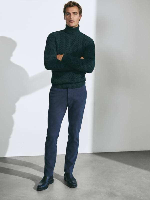 Pantalón chino Catálogo Massimo Dutti temporada otoño invierno 2020 2021
