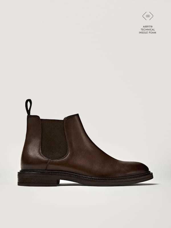 Zapato botín chelsea Catálogo Massimo Dutti temporada otoño invierno 2020 2021