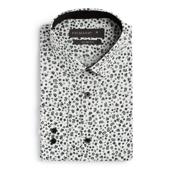 Camisa entallada estampado flores Primark temporada otoño invierno 2020 2021