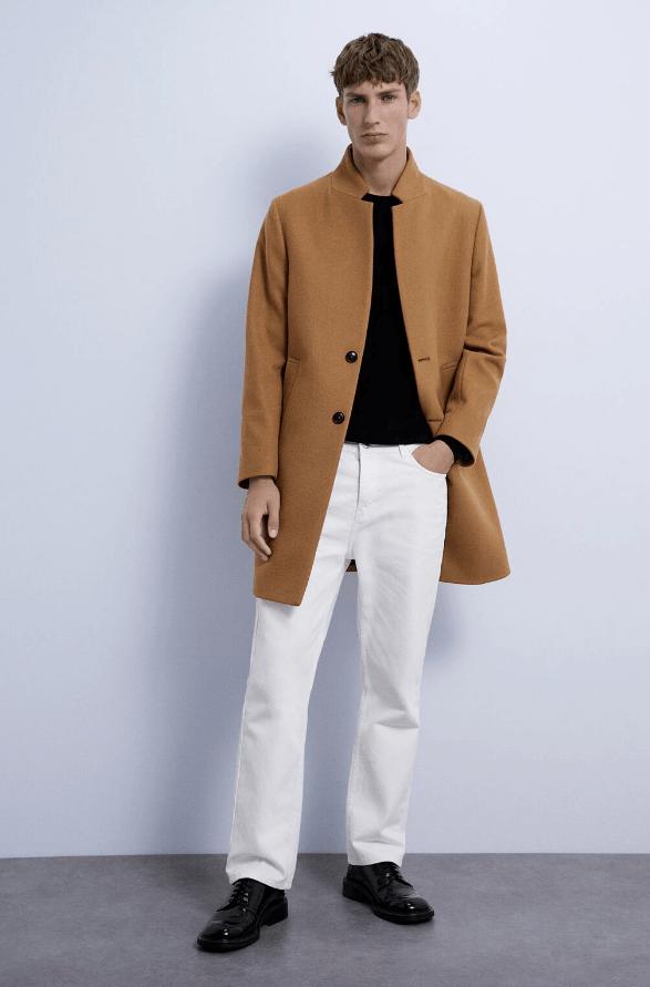 Catálogo Zara Hombre 2020 2021 abrigos marron