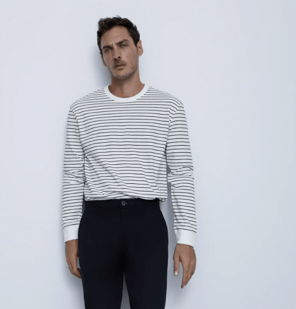 Camiseta manga larga catálogo Zara temporada otoño invierno 2020 2021