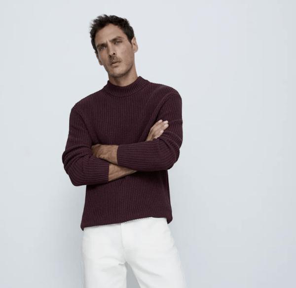 Jersey cuello perkins catálogo Zara temporada otoño invierno 2020 2021
