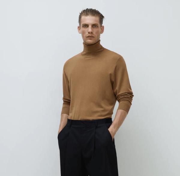 Jersey cuello vuelto catálogo Zara temporada otoño invierno 2020 2021