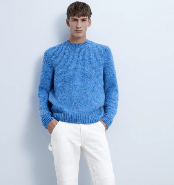 Jersey textura catálogo Zara temporada otoño invierno 2020 2021
