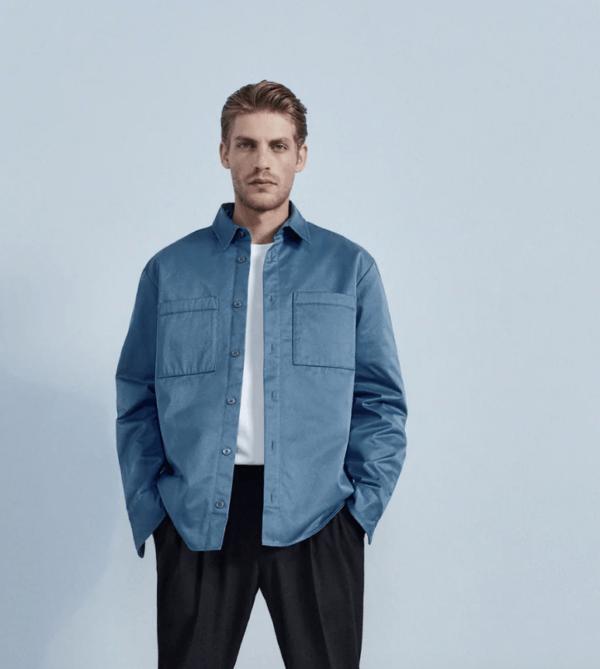 Sobrecamisa basica catálogo Zara temporada otoño invierno 2020 2021