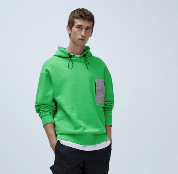 Sudadera combinada capucha catálogo Zara temporada otoño invierno 2020 2021