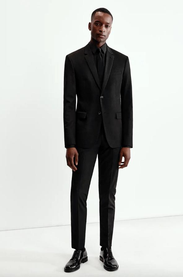 Traje print slim fit catálogo Zara temporada otoño invierno 2020 2021