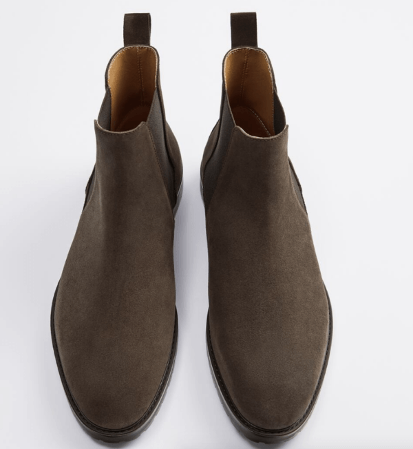 Zapatos botín gris catálogo Zara temporada otoño invierno 2020 2021