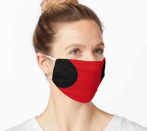 Disfraz Deadpool Halloween 2020 mascarilla roja y negra
