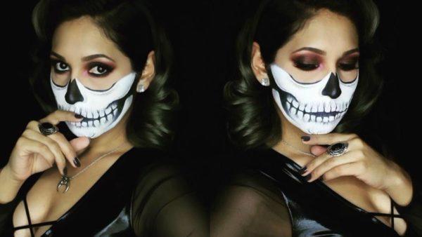 Maquillaje esqueleto para Halloween 2020
