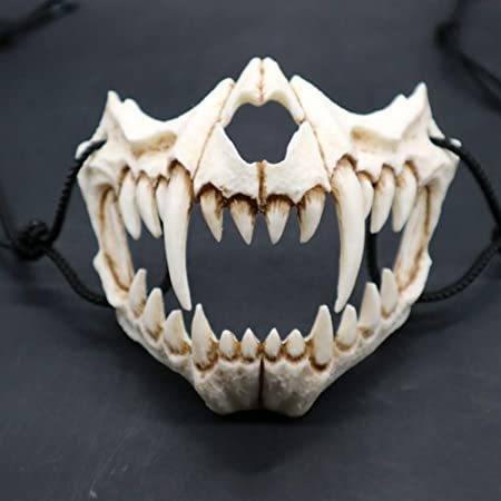 Mascarilla esqueleto para Halloween 2020