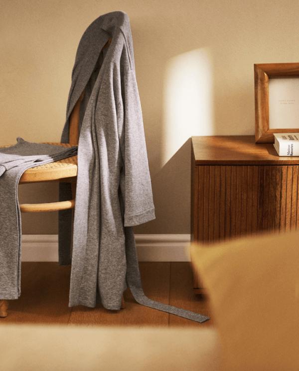 Batas del catálogo Zara para Hombre Otoño Invierno 2021 bata algodón
