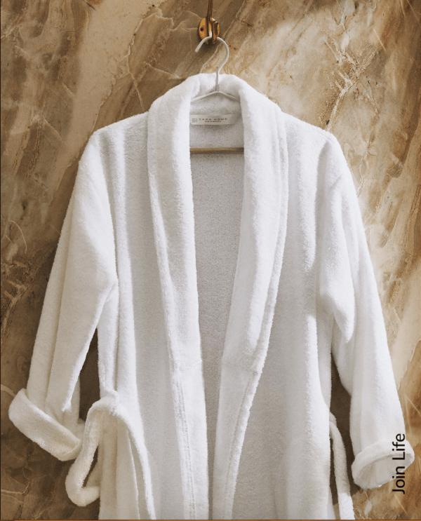 Batas del catálogo Zara para Hombre Otoño Invierno 2021 albornoz algodón orgánico