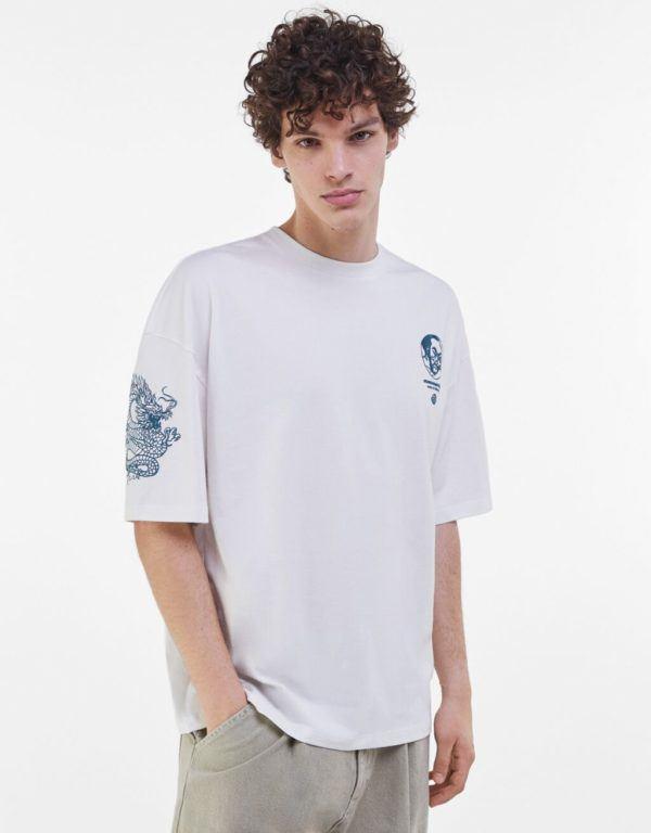 Catálogo Bershka hombre Otoño Invierno 2020 2021 camiseta extra loose print
