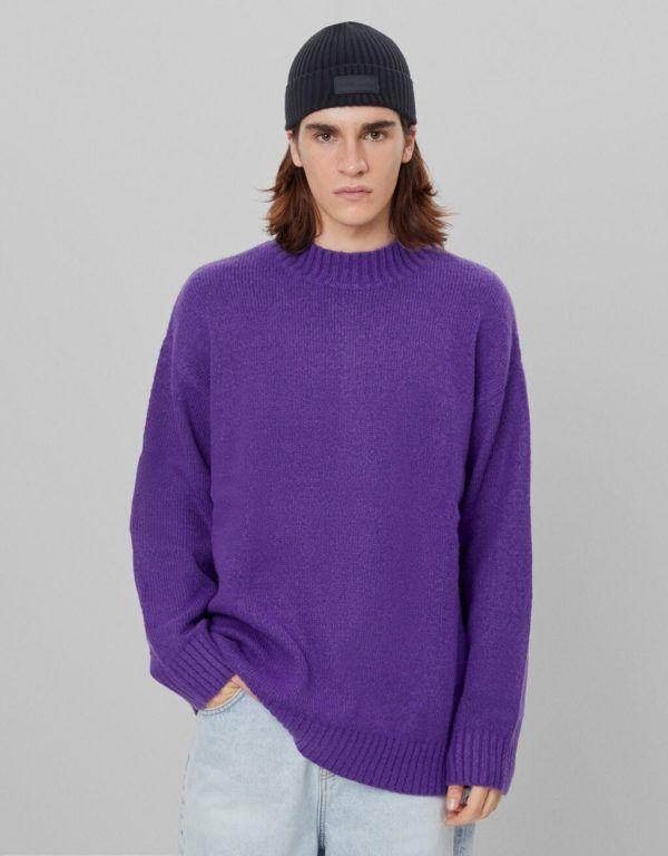 Catálogo Bershka hombre Otoño Invierno 2020 2021 jersey oversize cuello perkins