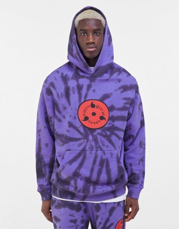 Catálogo Bershka hombre Otoño Invierno 2020 2021 sudadera capucha tie dye Naruto