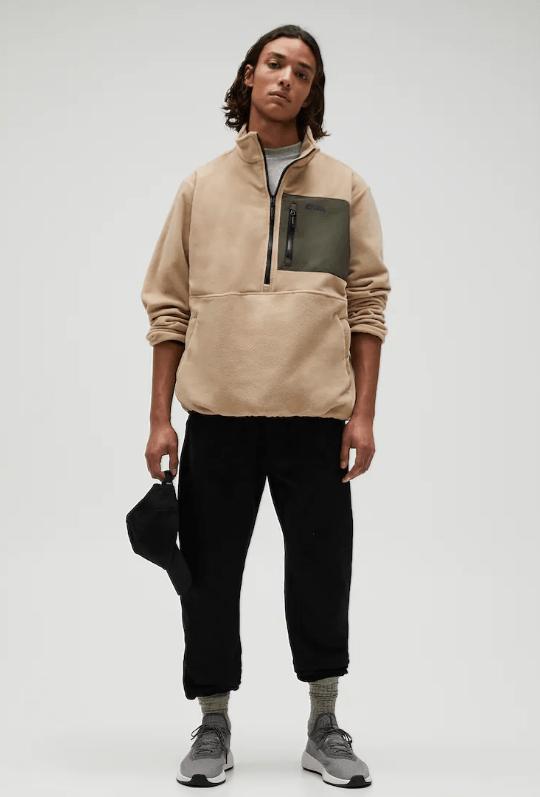 Catálogo Pull & Bear | Tendencias Moda Hombre Otoño Invierno 2020 2021 sudadera polar bolsillo combinado