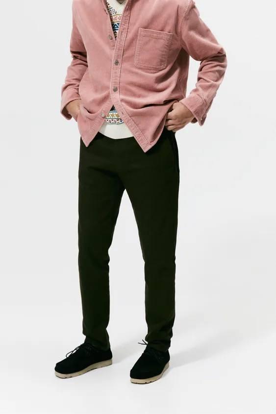 Catalogo zara hombre pantalon chino algodon