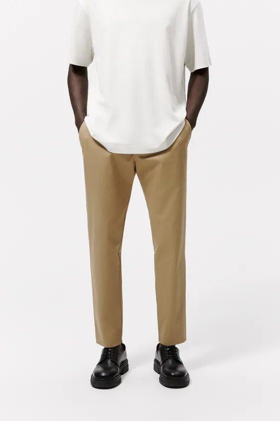 Catalogo zara hombre pantalon chino camel