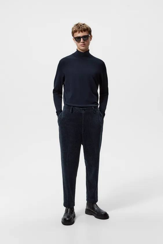 Catalogo zara hombre pantalon confort de pana