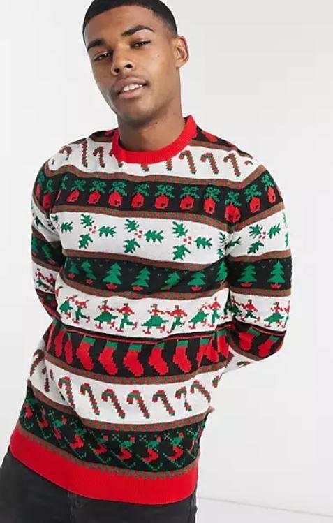 jersey de colores de navidad