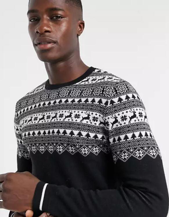 jersey negro de navidad