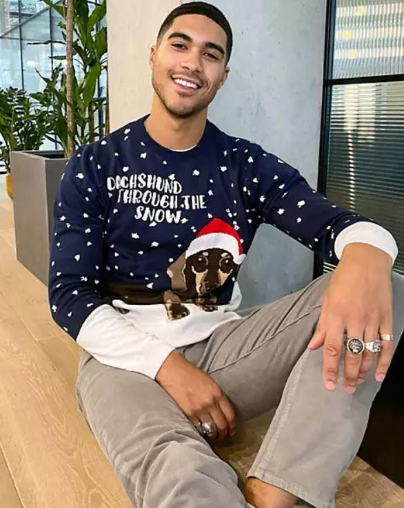 jersey con perro navideño