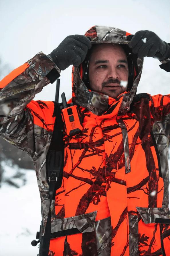 Decathlon en Otoño Invierno 2020 2021 chaqueta caza Solognac 900 Camuflaje
