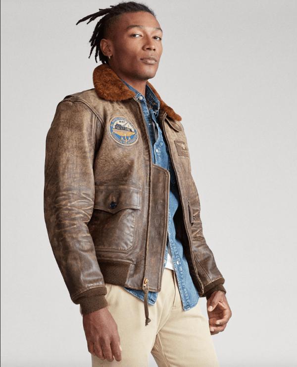 Chaquetas de cuero para hombre Polo Ralph Lauren cazadora piel