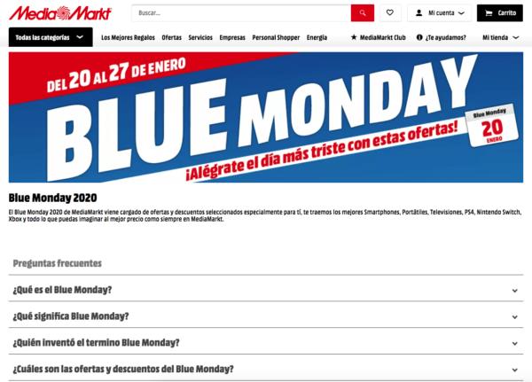 ¿Qué es el Blue Monday y dónde podemos encontrar las rebajas? Media Markt