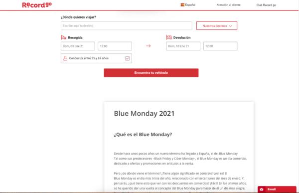 ¿Qué es el Blue Monday y dónde podemos encontrar las rebajas? RecordGo