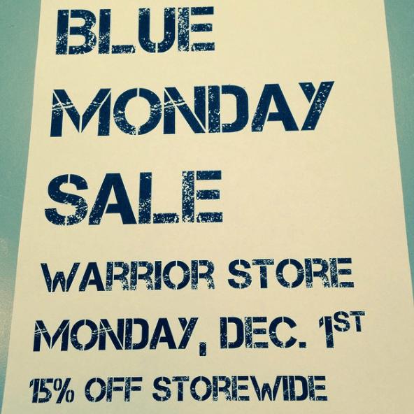 ¿Qué es el Blue Monday y dónde podemos encontrar las rebajas? Warrior