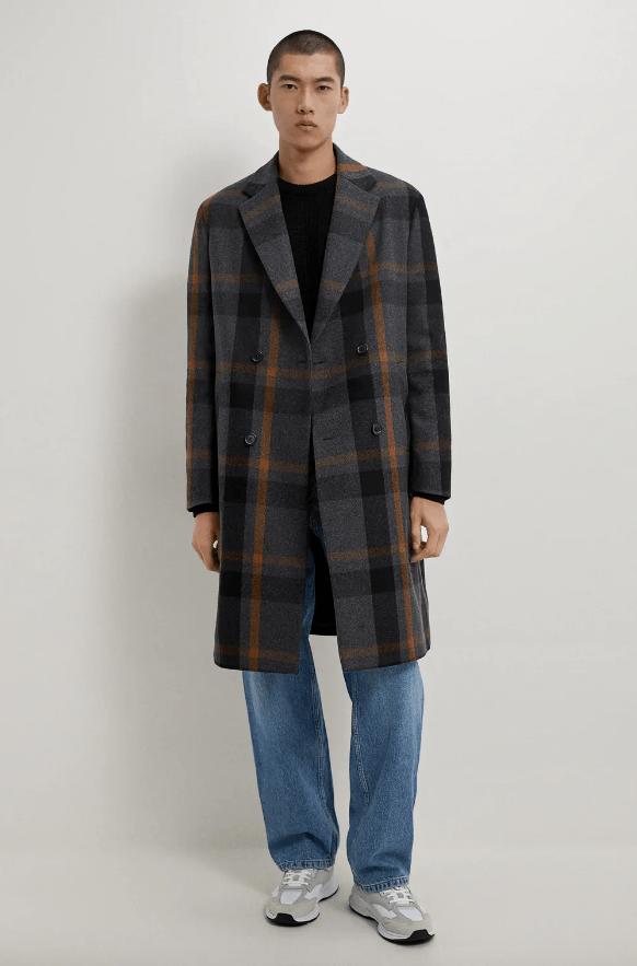 Abrigos de hombre Zara Invierno 2021 abrigo estructura cuadros