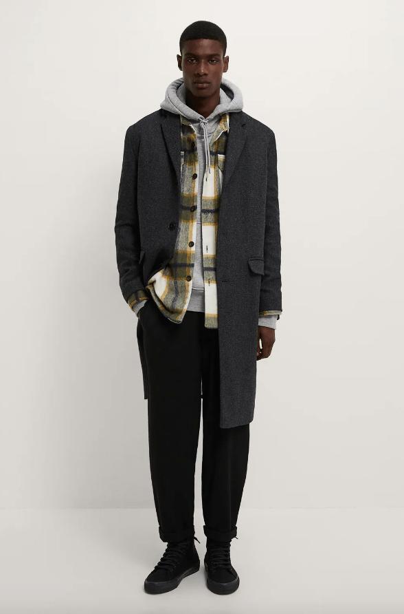 Abrigos de hombre Zara Invierno 2021 abrigo estructura lana